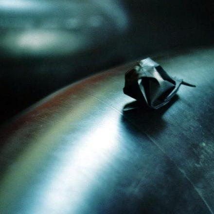 escargot de papier noir