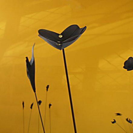 Fleurs sur des tiges de carbone.