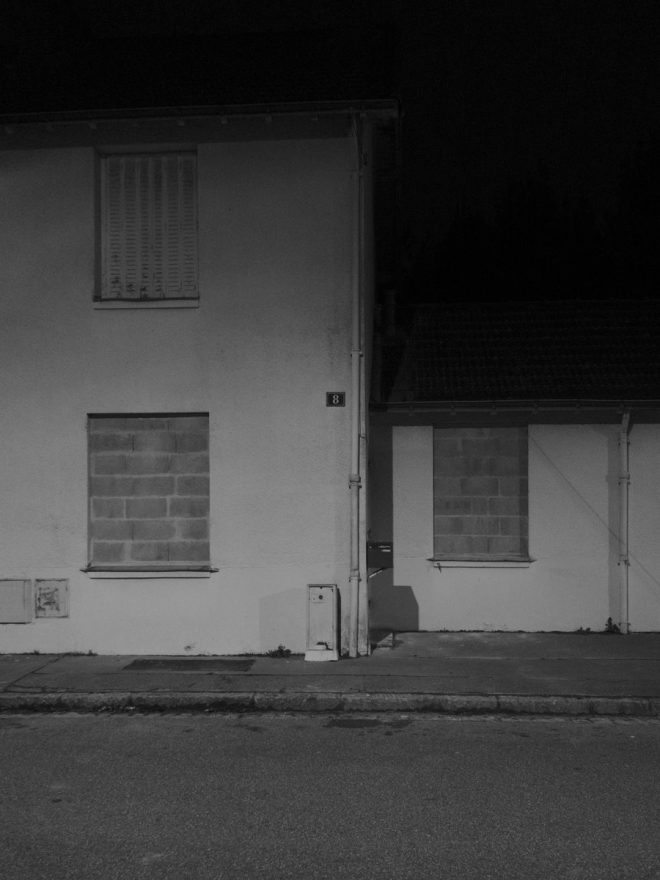 Maison en attente de destruction
