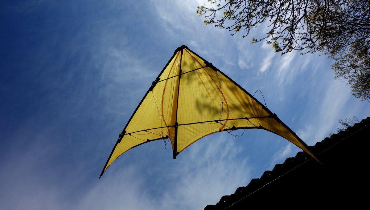 cerf-volant jaune