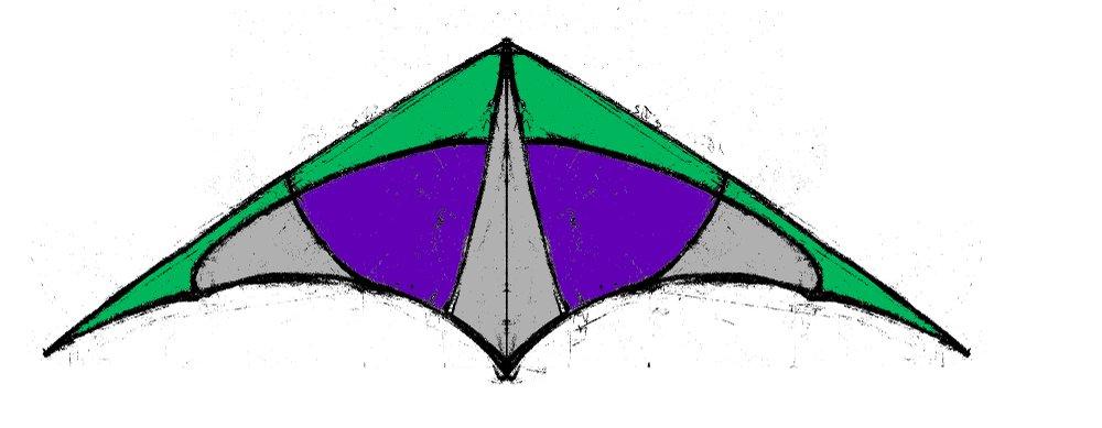 Cerf-volant vert et violet