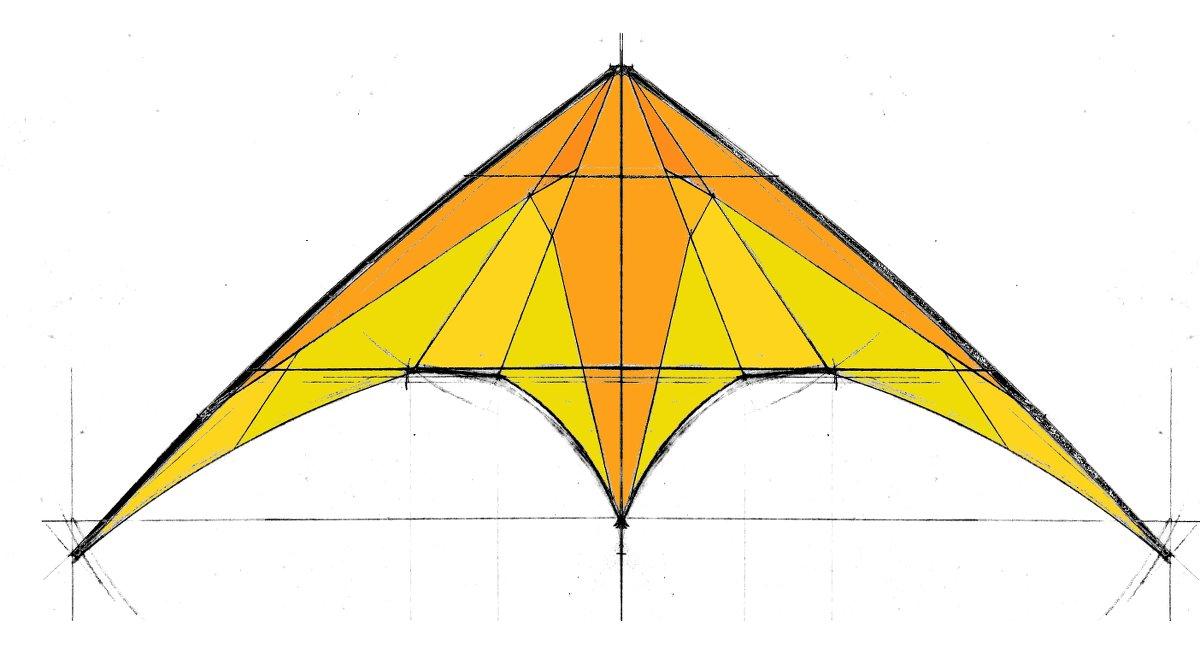 dessin de la décoration et coloration du cerf-volant
