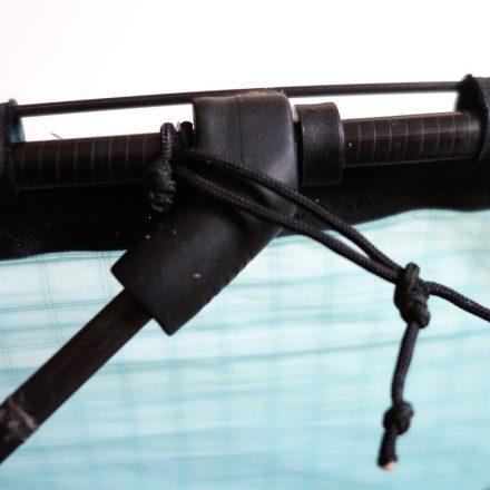 détail d'un glisse yoyo en jonc de carbone