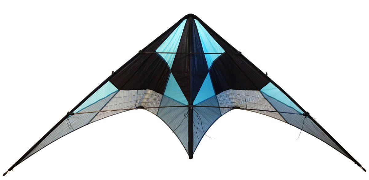 Cerf-volant bleu et noir détouré