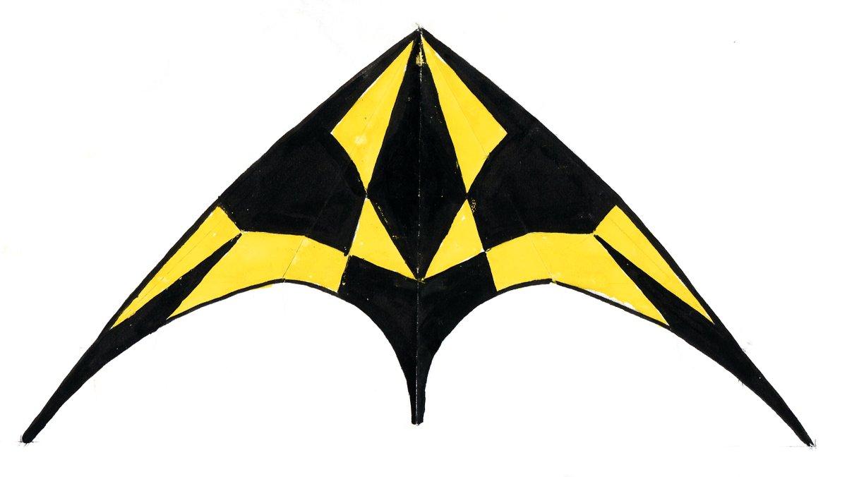 Cerf-volant noir et jaune
