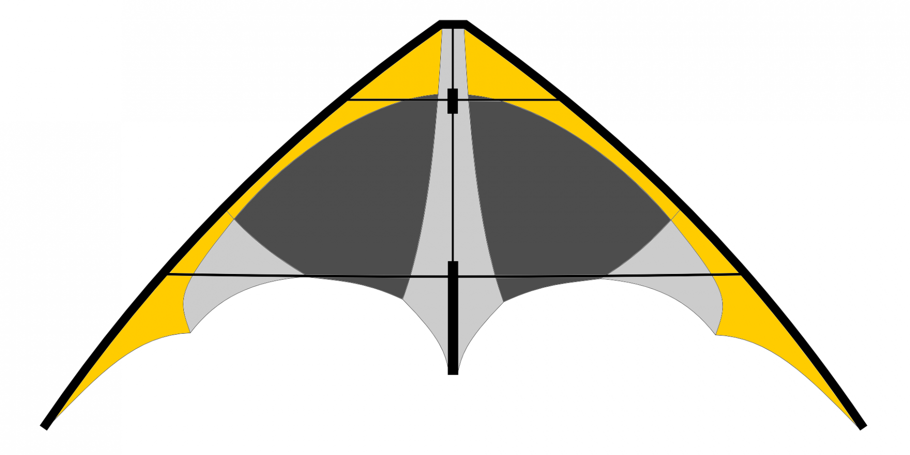 Cerf-volant jaune & gris