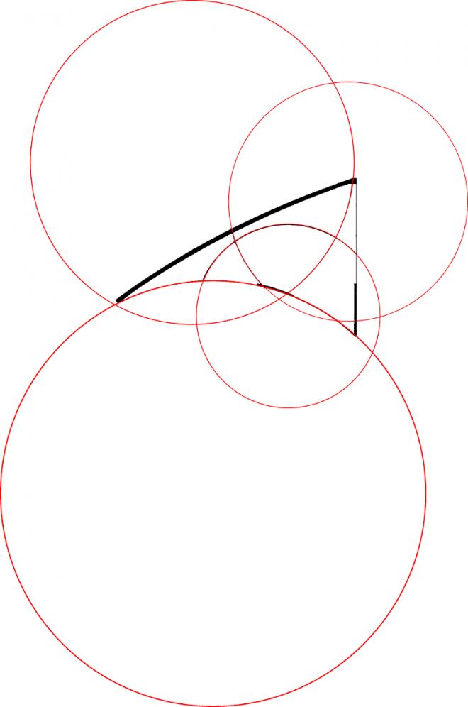 des cercles dessinent le cerf-volant
