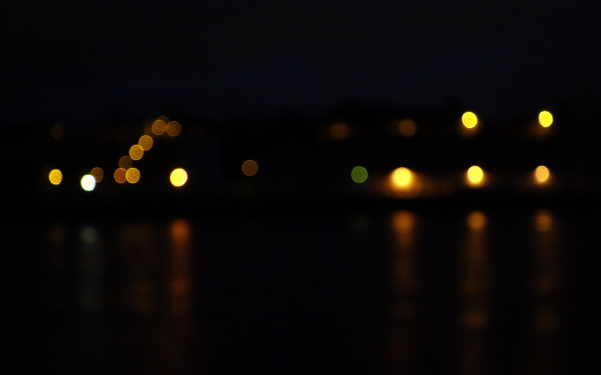 Série de focus lumineux et leurs reflets