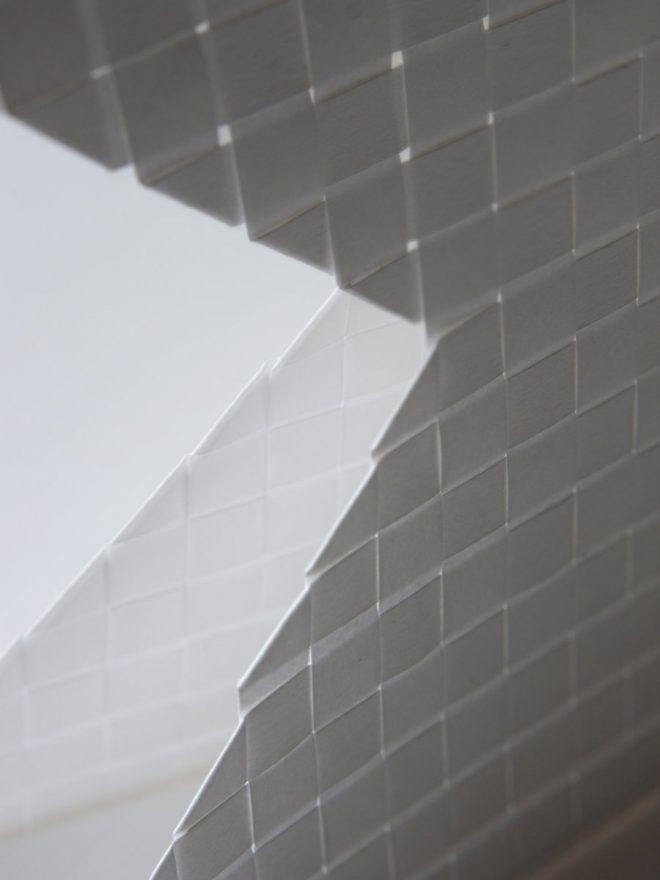 papier tissé à contre jour