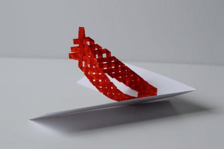 Popup de papier rouge
