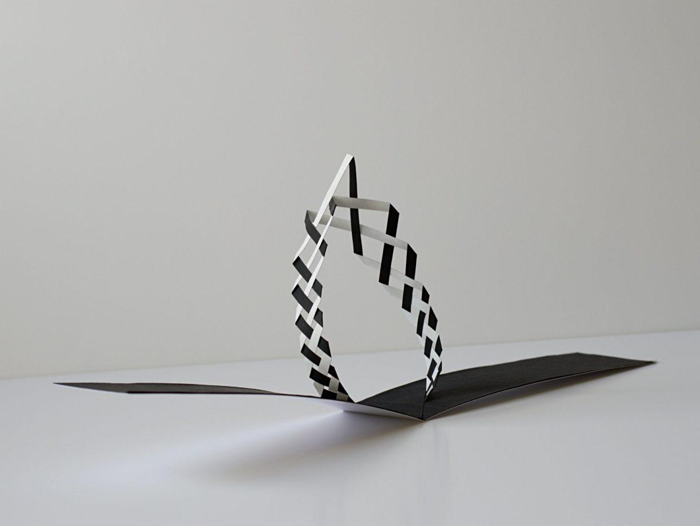 popup tissé noir et blanc