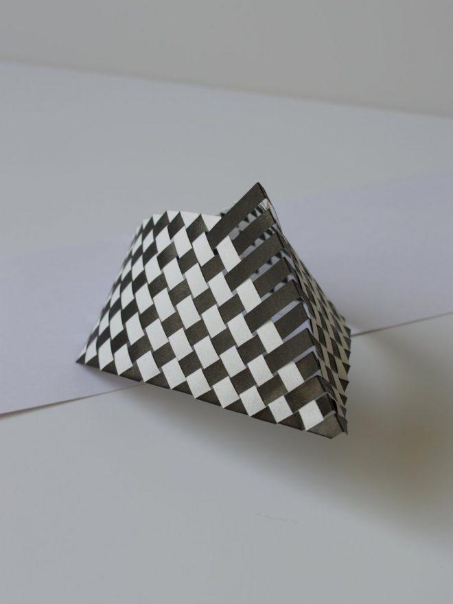 Détail d'un tissage de papier