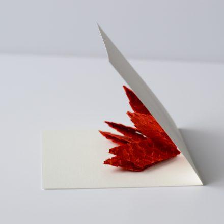 pliage du popup fleur