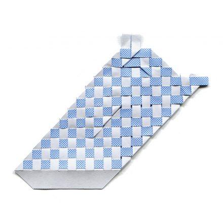 tissage bleu et blanc