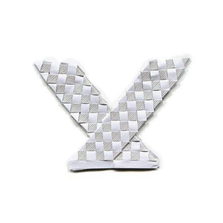 enveloppe tissée en X
