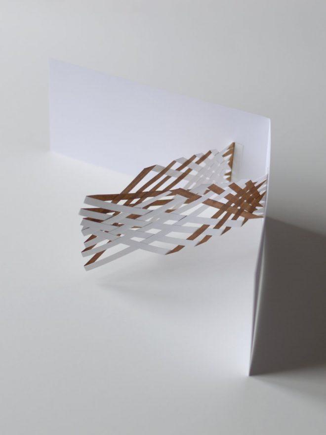 entrelacement de papier