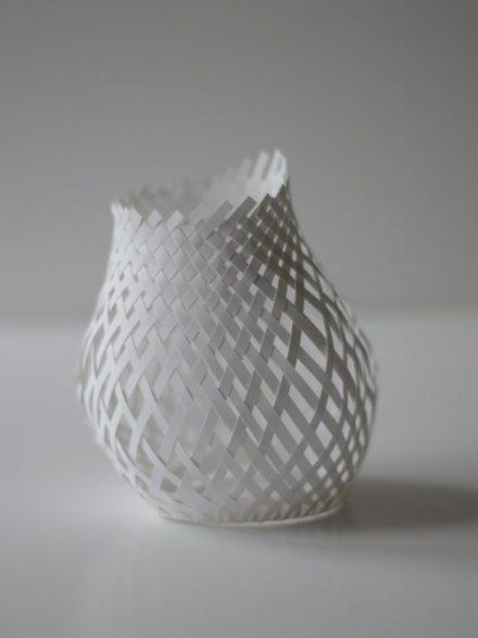 Tissage de papier blanc