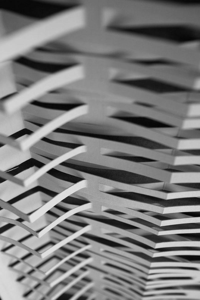 ouvertures de découpes de papier vues de dessus