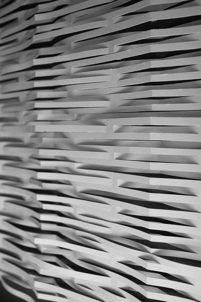 lignes de papiers découpées