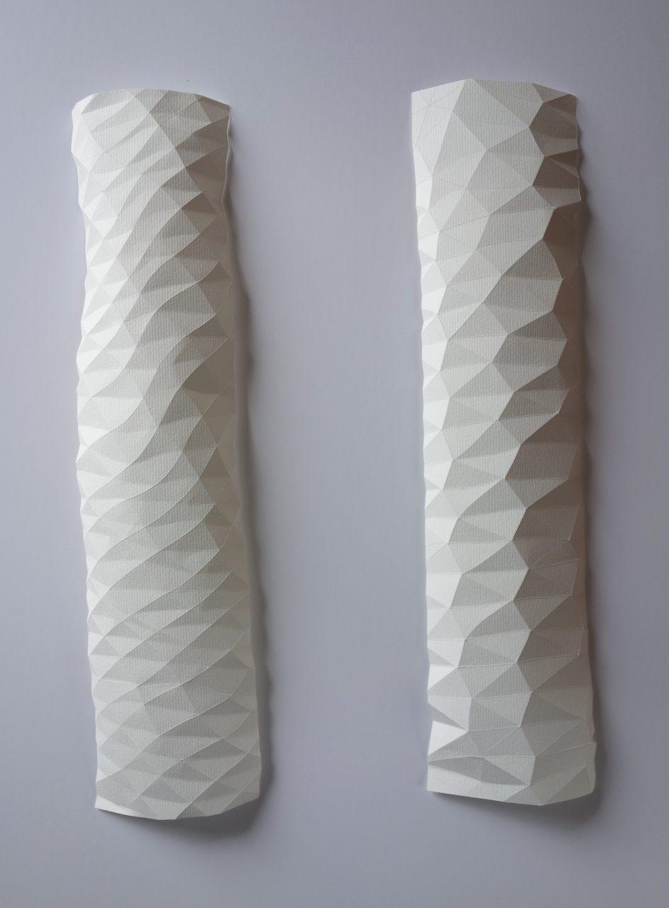 pliage répétitif pour une texture d'écorce