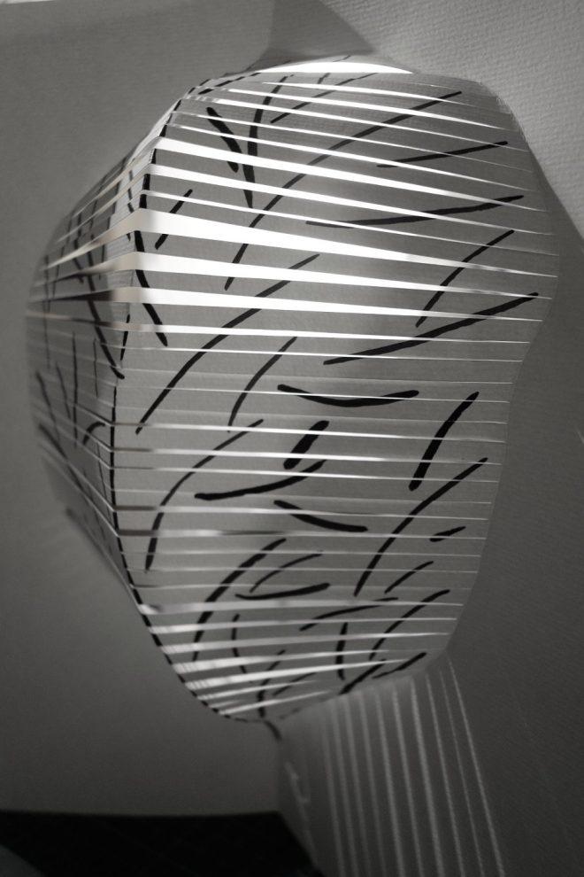 Zoom sur le volume de la sculpture de papier